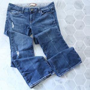 PAIGE Laurel Canyon Bootcut Destroyed Jeans
